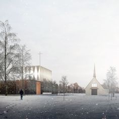Igreja\ Norway (Valer). Duggan Morris Architects\ Valer Church.