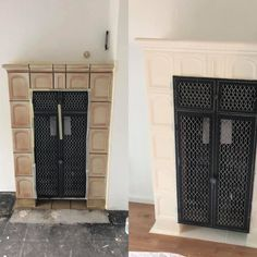 Stove Paint, Bude, Love Home, Garage Doors, Interior, Outdoor Decor, Home Decor, Dresses, Old Fireplace