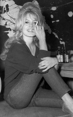 Brigitte Bardot... I love her big hair.