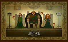 Pixar's newest movie, Brave, is at the top of the box office at the time of writing. Brave represents a couple of firsts for Pixar. Disney Pixar, Disney Films, Disney Animated Movies, Disney Animation, Disney Art, Animation Movies, Disney Magic, Walt Disney, Brave Film