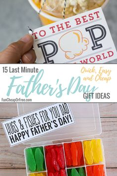 15 Last Minute Father's Day Ideas- Quick, Easy, and Cheap! - Fun Cheap or Free Diy Father's Day Gifts From Baby, Cheap Fathers Day Gifts, Easy Father's Day Gifts, Fathers Day Crafts, Gifts For Husband, Happy Fathers Day, Gifts For Kids, Father's Day Activities, Personalized Gifts For Dad