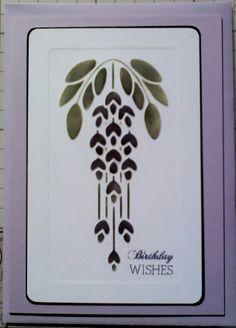 Dreamweaver wisteria stencil & distress inks by Lynne Lee