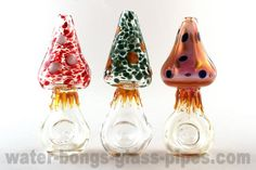 Set of 3 Agaric Glass Pipes http://www.water-bongs-glass-pipes.com/set-of-3-agaric-glass-pipes/d-36505/?affid=453