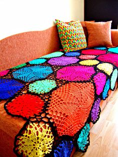 Pinwheel Doily Crochet Blanket  invented and created by a great stylist Babu