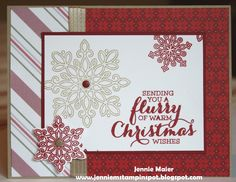 by Jennie: Flurry of Wishes, Merry Moments dsp, & more - all from Stampin' Up!
