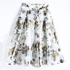 3fd71c09e64608 2018 Summer Women Long Skirt Casual High Waist A-line Pleated Maxi  Skirtmodkily