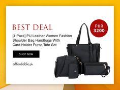 2018 Luxury 4 Set Bags Handbags Shoulder Bag Tote Wallet Key Bag Patent Leather Design Bag For Women.