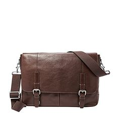 Fossil Graham East West Leather Messenger Bag Dark Brown * You can get additional details at the image link.