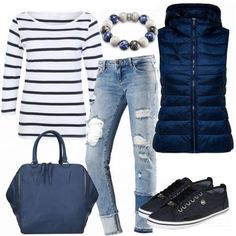 Buy outfits & styles for women online FrauenOutfits.de, Whether business, leisure or sport look. Here you will find the most beautiful outfits & styles for every occasion and budget. Fall Winter Outfits, Autumn Winter Fashion, Spring Outfits, Winter Clothes, Look Fashion, Denim Fashion, Fashion Outfits, Fashion Tips, Mode Outfits