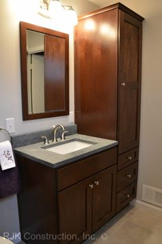 bathroom vanity cabinets tall
