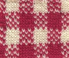 Lana creations: Stitch pattern of mosaic knitting with two colors Crafts/Pr...