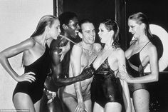 A collection of iconic images taken by Helmut Newton the legendary photographer dubbed 'The King of Kink are going on display and will include famous pictures such as Swimwear (Jerry Hall spitting) taken for Vogue in 1978. Newton, who died in 2004, famously said: 'If a photographer says he is not a voyeur, he is an idiot'