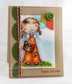 Happy Harvest; Blueprints 1 Die-namics; Pierced Rectangle STAX Die-namics; Washi Tape Die-namics - Cindy Lawrence