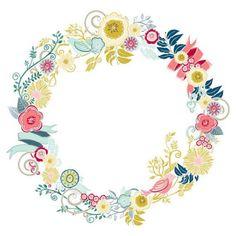 50 Sale Flower Clip Art Digital ClipArt Floral by FishScraps Molduras Vintage, Inspiration Artistique, Clip Art, Deco Floral, Digital Scrapbook Paper, Flower Clipart, Retro Flowers, Diy Invitations, Flower Frame