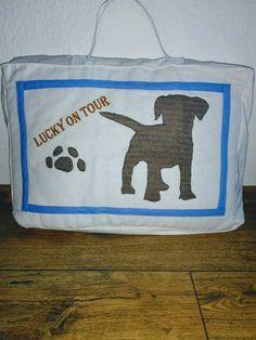 #Tasche für unseren Hund genäht.