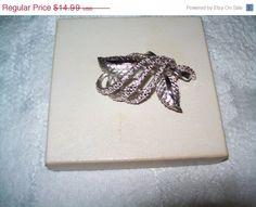 JULY 4th SALE Beautiful Coro brooch silvertone by vintagebyrudi