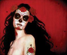 DIA De Los Muertos Tattoos | Is Beauty Dia De Los Muertos Catrina Artwork Sylvia Ji