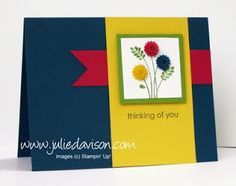 Julie's Stamping Spot -- Stampin' Up! Project Ideas Posted Daily: Embellished Events Dahlia Card