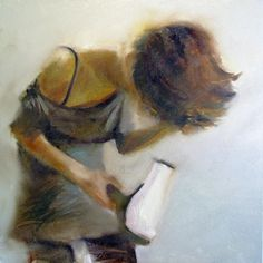 "Saatchi Online Artist: Moussin Irjan; Oil, 2010, Painting ""Tender electricity (Sold)"""