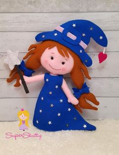 Felt pattern Rosa the Witch, softie pattern doll, plush pattern Halloween, pdf…