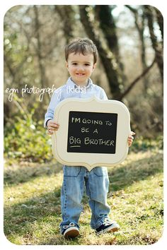 Sibling Pregnancy Announcement  -Organic Bloom chalkboard/frames available through: www.egmphotography.com