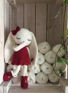 crochet longear Bunny, a crochet toy for a newborn or child gift, newborn photo prop or photo session Easter Crochet, Cute Crochet, Crochet Patterns Amigurumi, Crochet Dolls, Crochet Mignon, Mercerized Cotton Yarn, Crochet Rabbit, Newborn Toys, Crochet Buttons