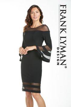 185235 Knit Dress, Peplum Dress, Black Knit, Fall 2018, Bell Sleeves, Cocktail, Women's Fashion, Elegant, How To Wear