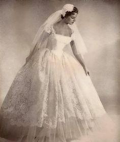 wedding gown --- Pretty much my dream dress! wedding gown --- Pretty much my dream dress! Wedding Attire, Wedding Bride, Dream Wedding, Lace Wedding, 50s Wedding, Bling Wedding, Trendy Wedding, Wedding Flowers, Lesbian Wedding