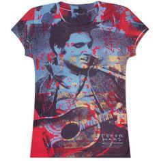 Elvis Jamming Pop Ladies T-shirt