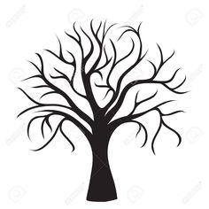 Arbol Sin Hojas Imagenes De Archivo Vectores Arbol Sin Hojas Black Tree Tree Outline Tree Silhouette