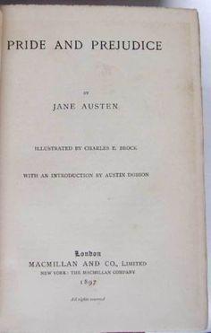 Details About Novels Of Jane Austen 5 Volumes 1896 7 Illustrated Hugh Thomson Charles Brock