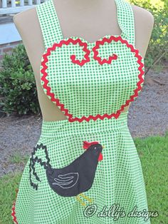 dolly's designs: The Rooster Apron  http://dollysdesigns.blogspot.com/2012/07/the-rooster-apron.html?utm_source=BP_recent#