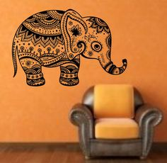 Elephant Hindu 2 Vinyl Wall Decal Sticker Art Decor Bedroom Design Mural