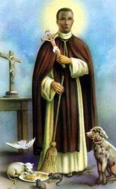 Nov 3rd - St Martin de Porres (1579-1639) was born in Lima, the illegitimate son of a Spanish nobleman and a black ex-slave. His mother gave him a Christian education and he became a pharmacist and a nurse. Despite his father's opposition he entered the Dominican Order as a lay brother and spent his life working for the sick and the poor.Many people of all ranks would come to him for advice. He had a great devotion to the Holy Eucharist. He has been named as a patron saint of those of mixed…