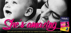 Give mom a Goodwill gift card this Mother's Day!