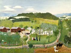 Grandma Moses Goes to the Big City  - Grandma Moses:  http://www.wikiart.org/en/grandma-moses/grandma-moses-goes-to-the-big-city-1946