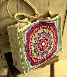 """New Cheap Bags. The location where building and construction meets style, beaded crochet is the act of using beads to decorate crocheted products. """"Crochet"""" is derived fro Potholder Patterns, Crochet Square Patterns, Crochet Designs, Crochet Tote, Crochet Purses, Freeform Crochet, Bead Crochet, Japanese Sewing Patterns, Knitted Bags"""