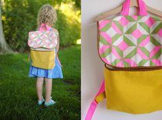 Tela de la mochila para niños es precioso y los niños les encanta (Foto: hartandsew.blogspot.com.br)