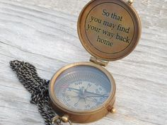 Compass Engraved Compass Personalized Compass Fathers by Bgenius15