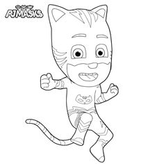 Learn How To Draw Gekko From Pj Masks Pj Masks Step By Step