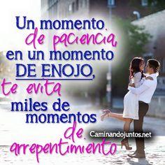 #caminandojuntos #matrimonio #paciencia #quotes #siguenos www.caminandojuntos.net