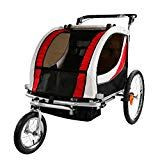 Clevr Red Collapsible 2 Seats Double Bicycle Trailer Baby Bike Jogger/Stroller Jogging Running Kids Cart Bike Baby Jogger Stroller, Baby Strollers, Cool Bicycles, Cool Bikes, Best Kids Bike, Bike Hitch, Bicycle Safety, Baby Bike, Bike Trailers