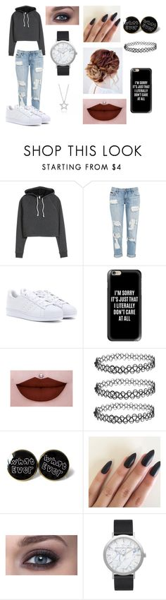 """""""Untitled #286"""" by ignoredpest ❤ liked on Polyvore featuring adidas, Casetify and Elwood"""