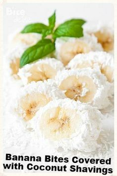 Banana Bites Covered with Coconut Shavings