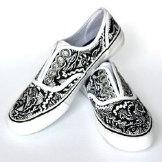 If you love to doodle then check out how easy it is to decorate inexpensive canvas shoes!