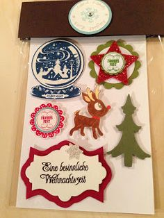 "Heikes Kreativseite: Card Candys zum Thema "" Weihnachten "" Candy Cards, Scrapbook Embellishments, Craft Fairs, Diys, Christmas Cards, Scrapbooking, Holiday Decor, Crafts, Ornaments"