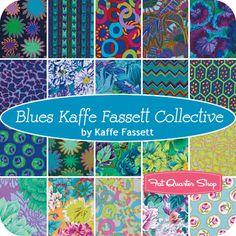 """Blues Kaffe Fassett Collective 6"""" Design Strip Kaffe Fassett for Westminster Fibers - Fat Quarter Shop"""