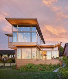 Awesome Elliott Bay House by Finne Architects located in Seattle on a narrow site facing Puget Sound......