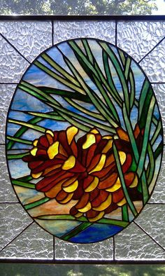stained glass patterns of pinecones - Google Search