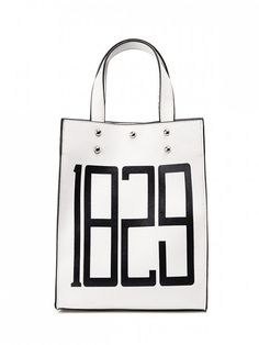 Studded Figure Print Tote Bag - White #Shoproads #onlineshopping #Handbags